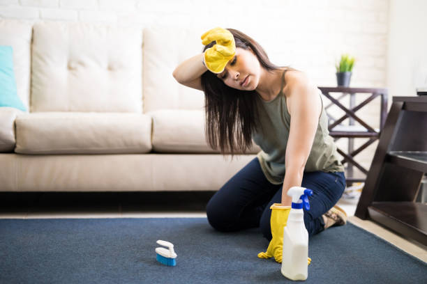 cómo se puede limpiar una alfombra sin aspirador