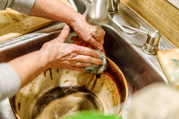 como quitar el quemado de una olla