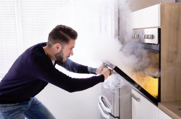 horno quemado como limpiar