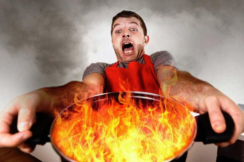limpieza de olla quemada trucos