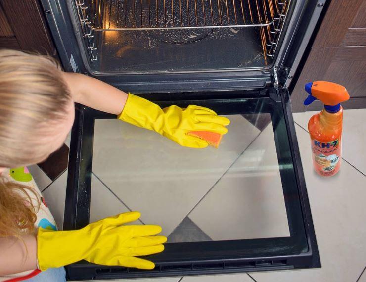 limpiar cristal horno por dentro con kh7