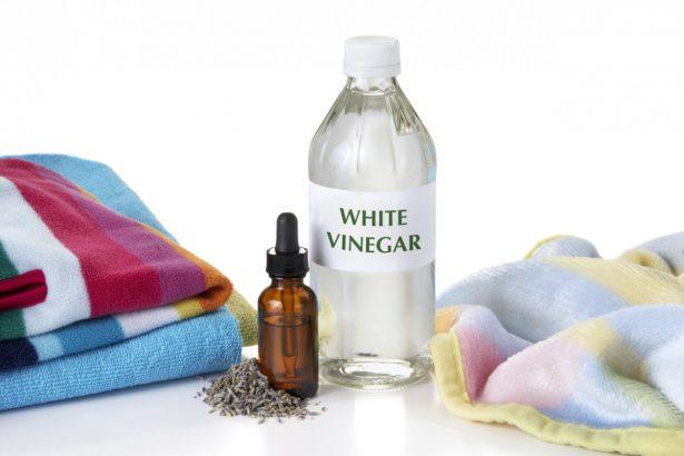limpieza con vinagre blanco la toallas