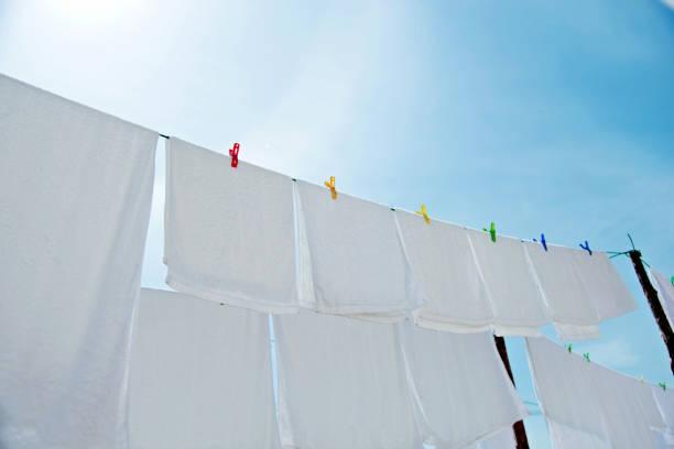 secado toallas al aire libre de alimentos