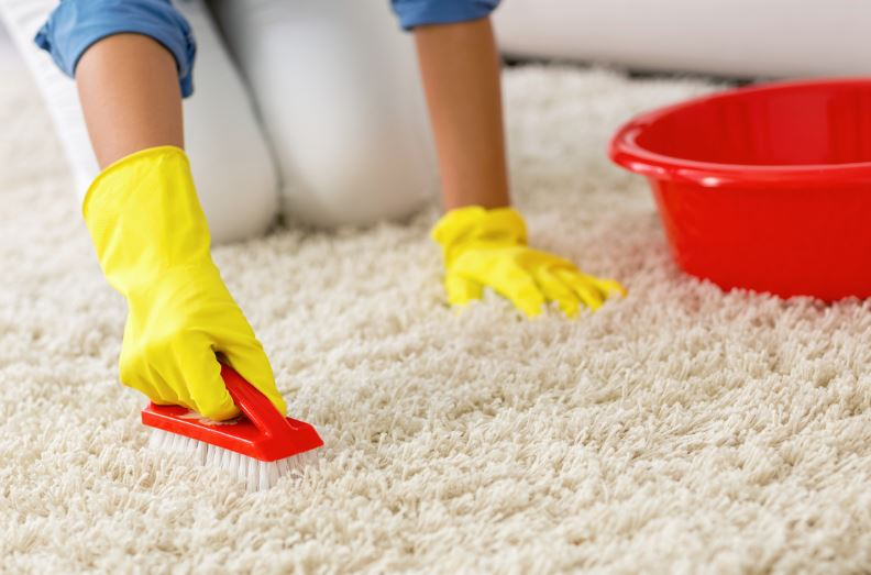 como limpiar una alfombra con agua y jabon