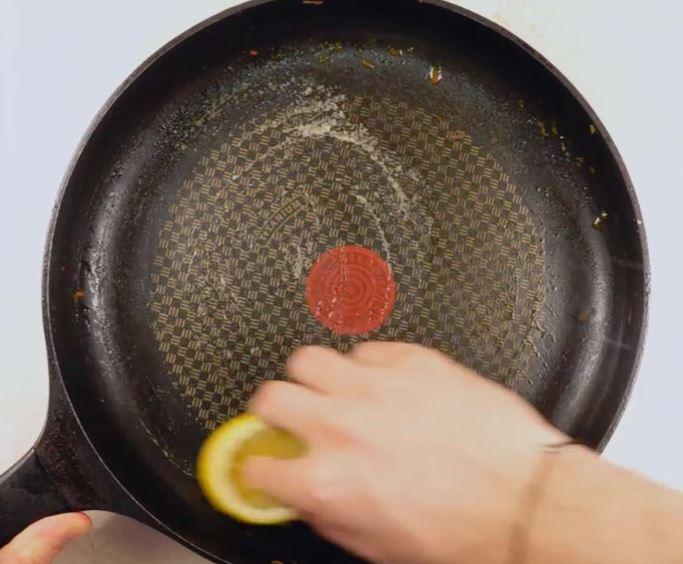 limpiar sartenes con limon