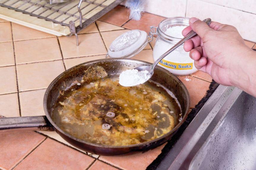limpieza sartenes bicarbonato sodio