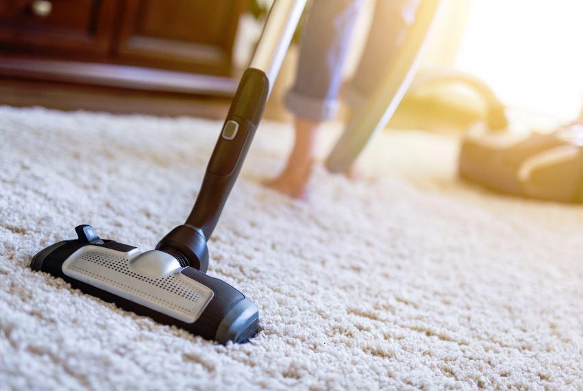 limpia alfombra lana con aspiradora