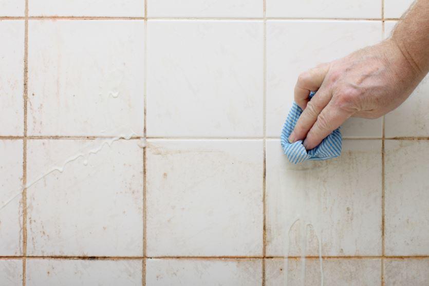 limpiar juntas azulejos baño moho