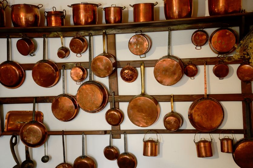 limpiar olla cobre antigua