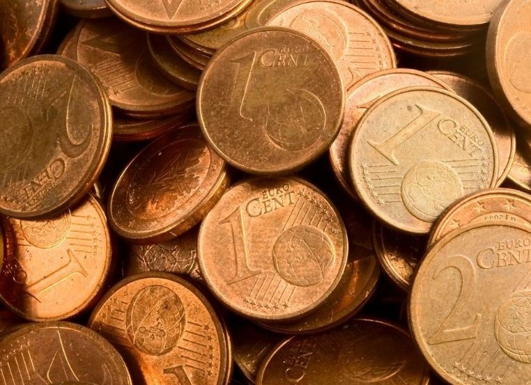 limpiar monedas de cobre centimos euro