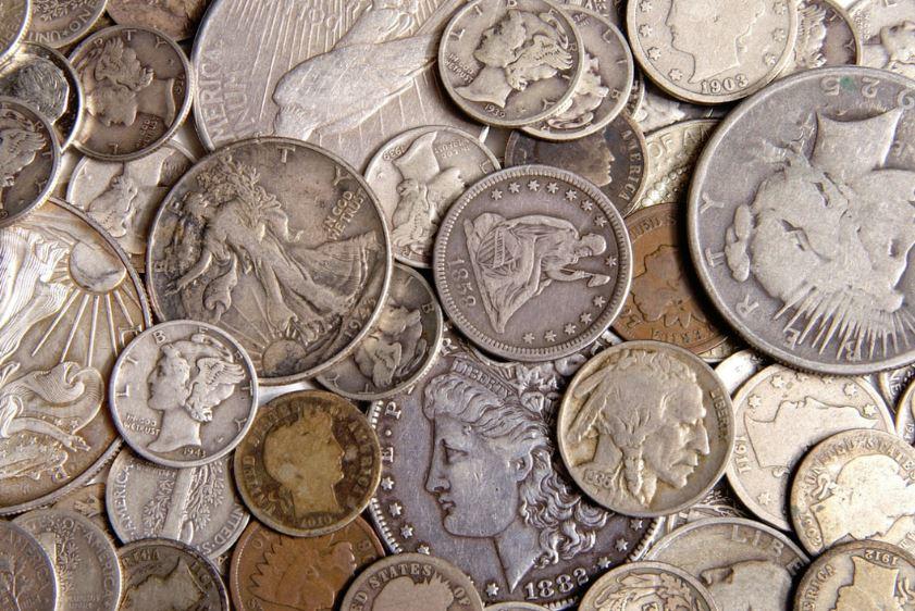 limpieza de monedas de plata antiguas
