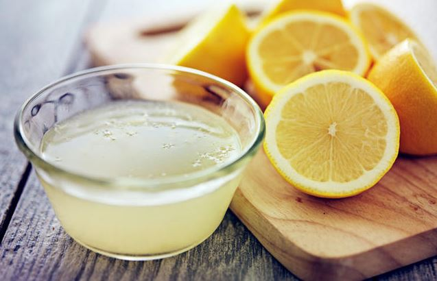 sacar manchas oxido limon