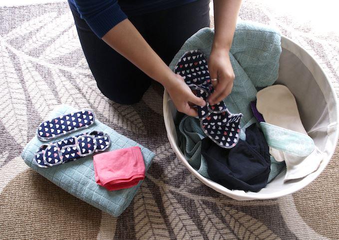 salvaslips de tela de algodón ecológico limpiar