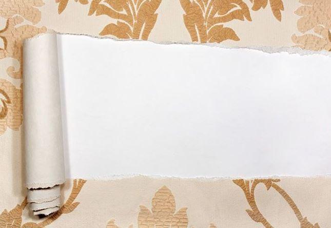 como quitar el papel pintado de una pared