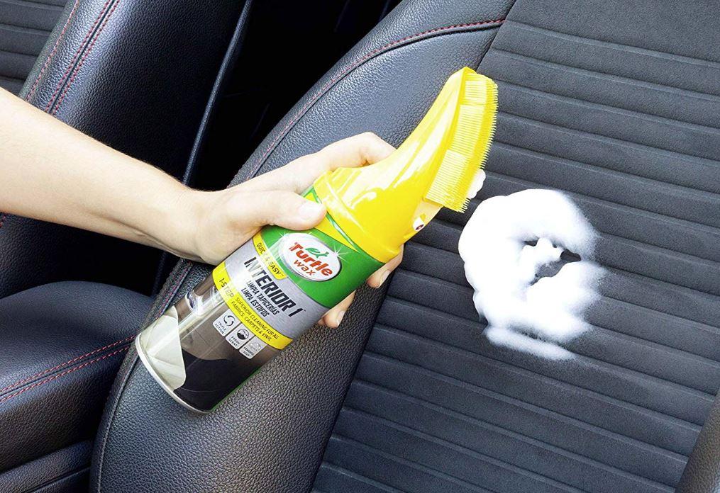 espuma para limpiar asientos de coche turtle wax