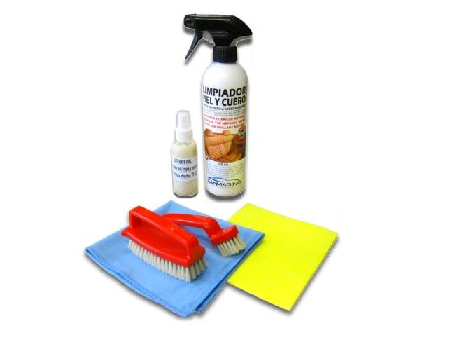 kit de limpieza para piel y cuero