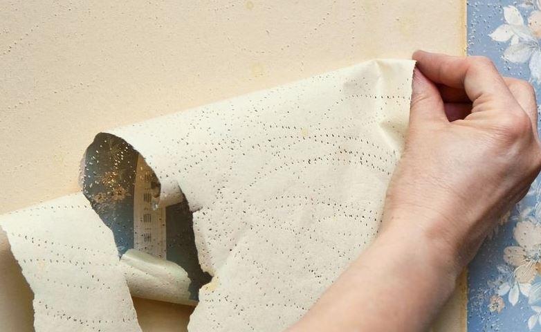 quitar papel pintado muy pegado