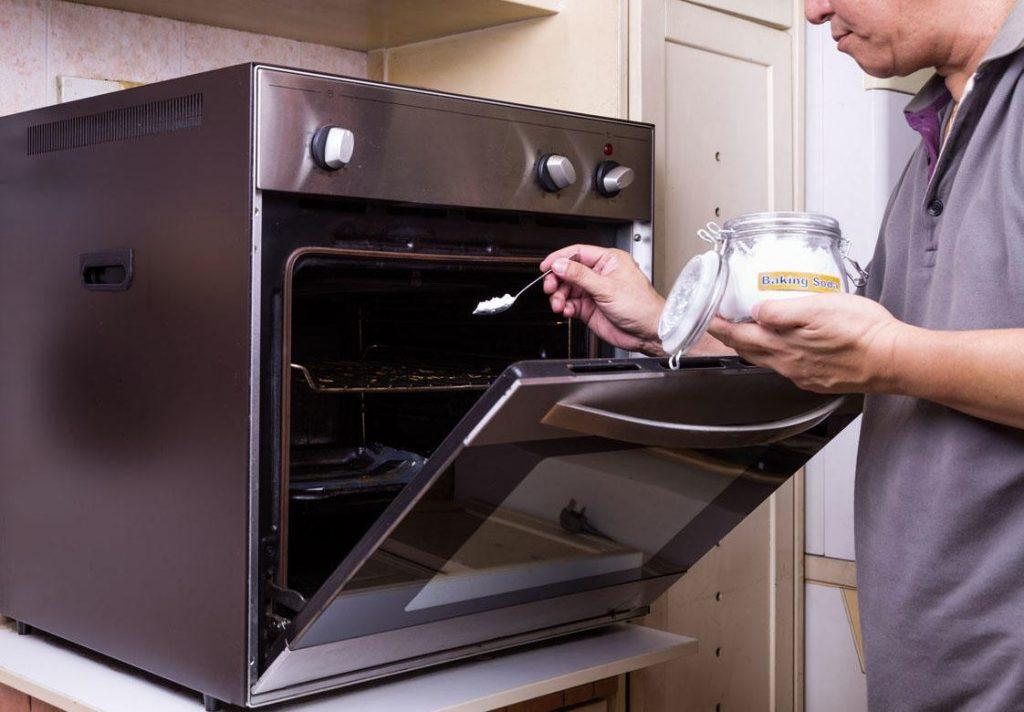 limpiar rejilla horno bicarbonato