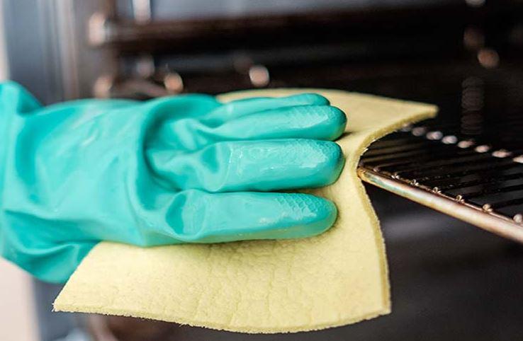 limpiar rejilla horno con aceite quemado