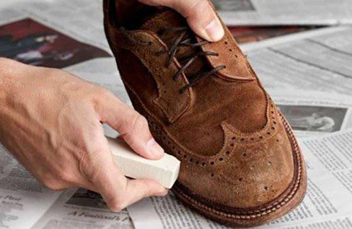 limpiar zapatos de gamuza
