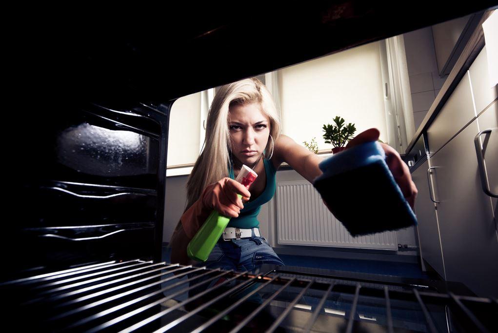 como limpiar un horno electrico muy sucio por dentro