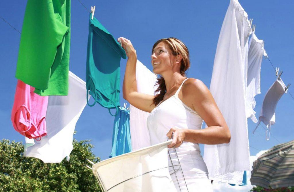como secar la ropa al aire libre rapido