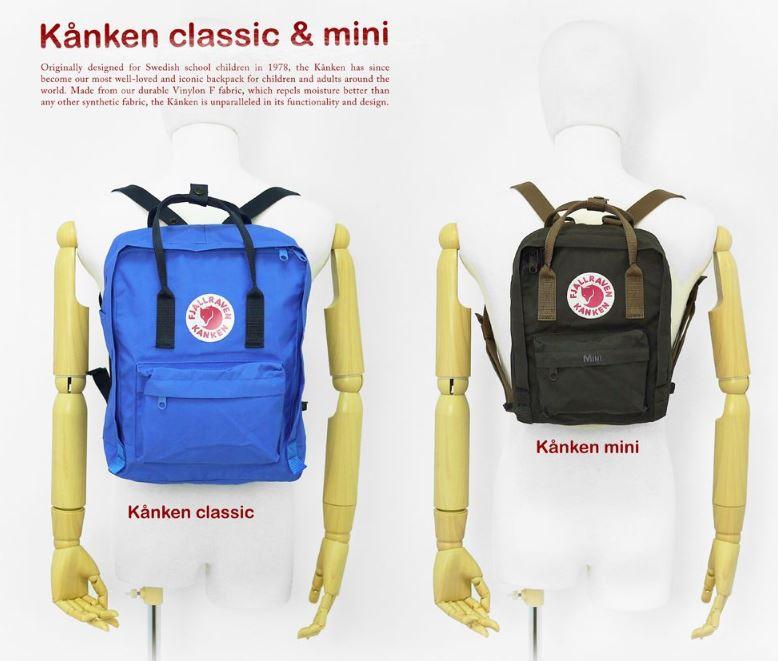 diferencia entre una kanken classic y una kanken mini