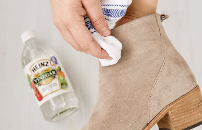 limpiar calzado ante vinagre