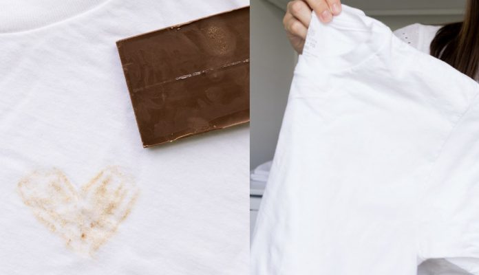 quitar manchas chocolate ropa blanca