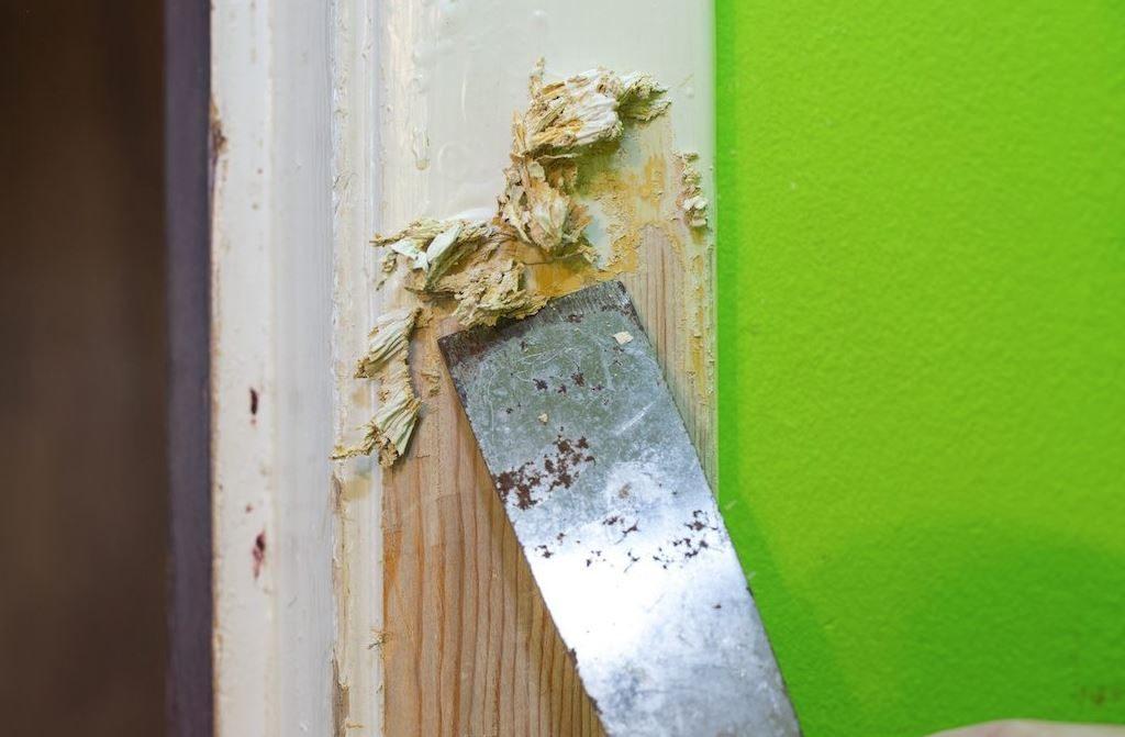 remover pintura puertas madera