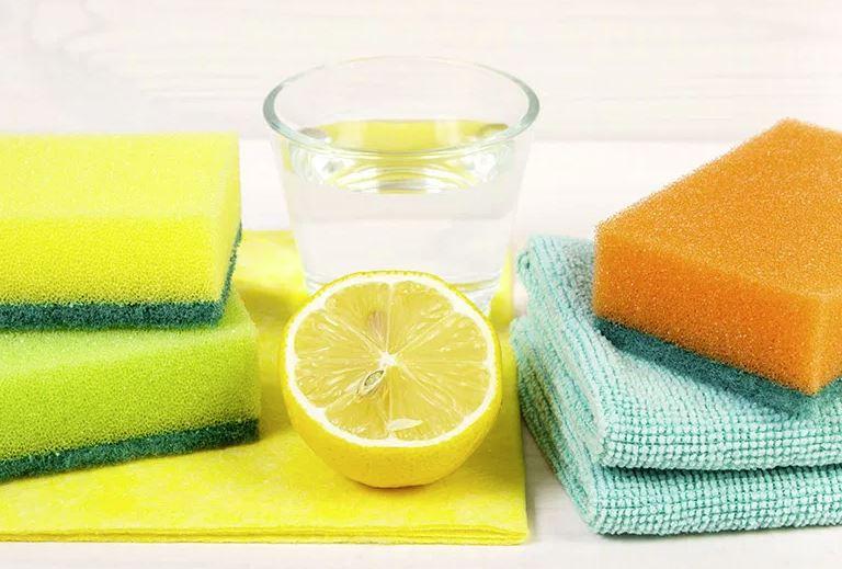 quitar manchas cereza vinagre y limon