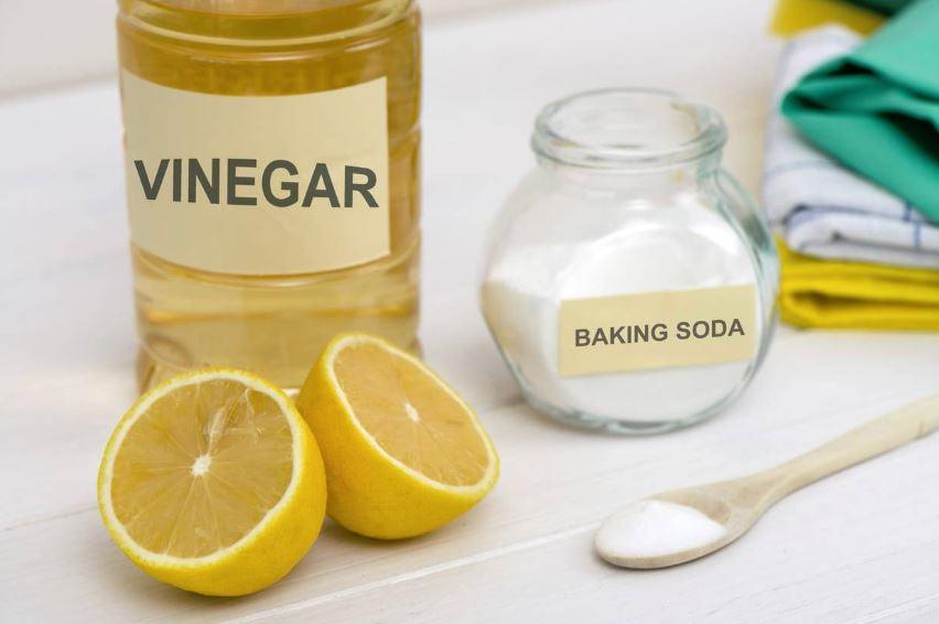 bicarbonato de sodio y vinagre para lavavajillas