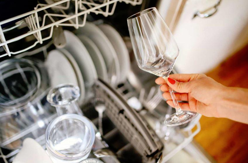 copas de cristal blancas en lavavajillas