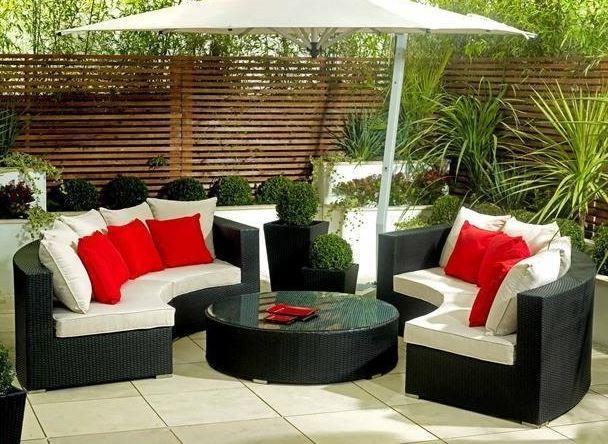 limpiar muebles tela jardin