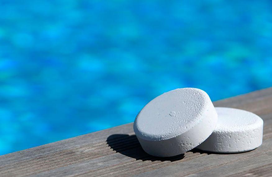 limpiar resina con cloro de piscinas