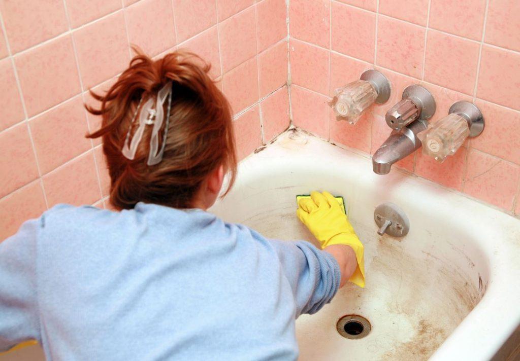 quitar manchas de oxido en bañeras