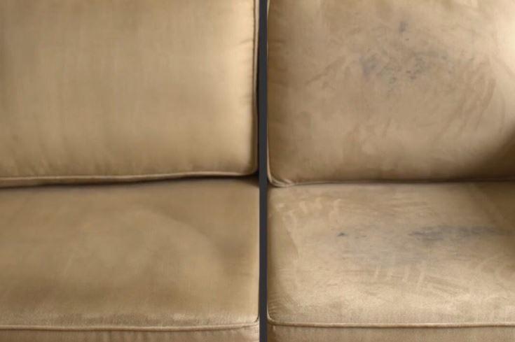quitar manchas en sofa de microfibra