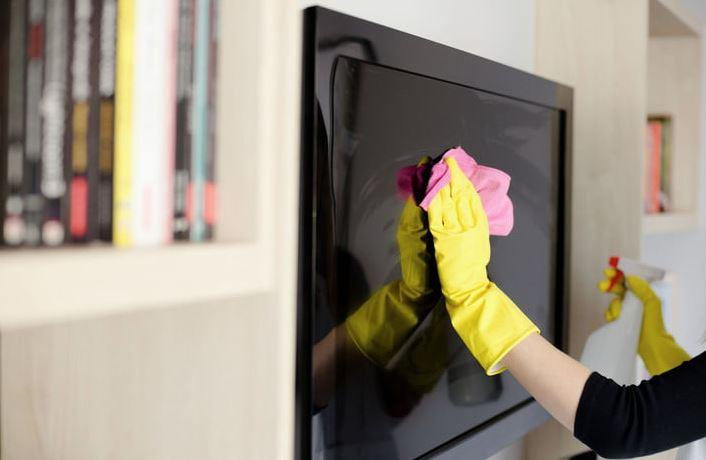 limpiar pantalla tv samsung
