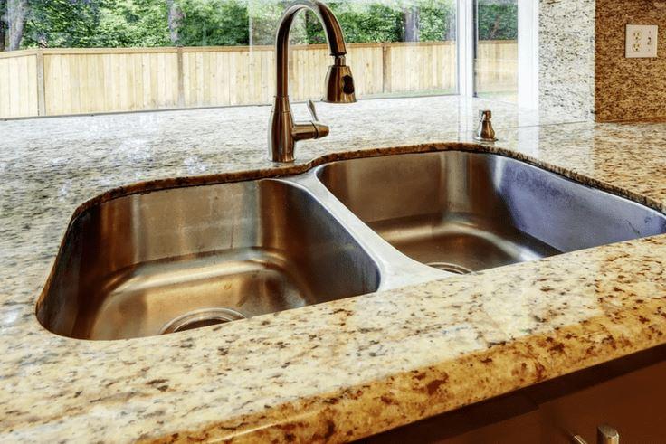 limpieza fregadero de piedra
