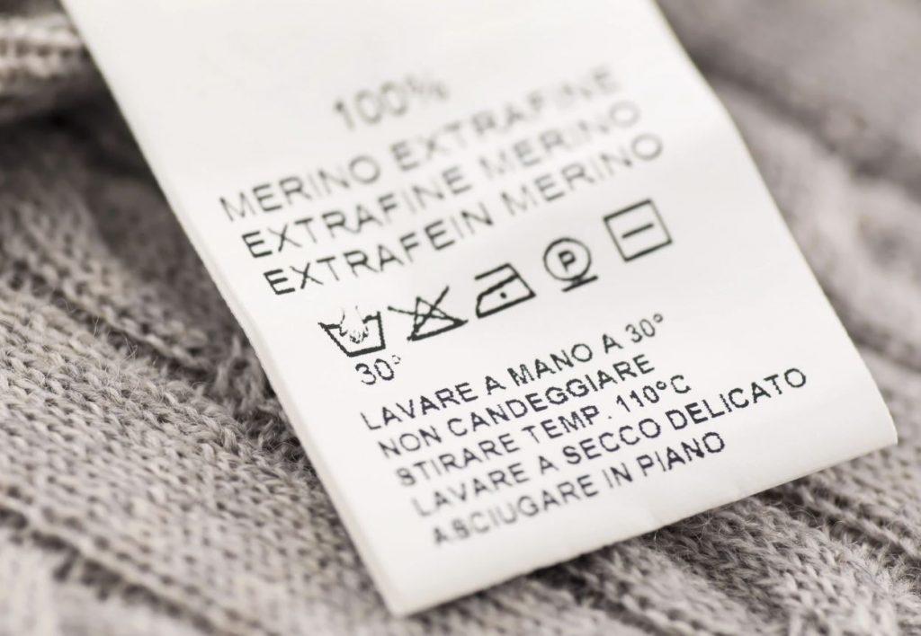 etiqueta lavado lana lavar a mano
