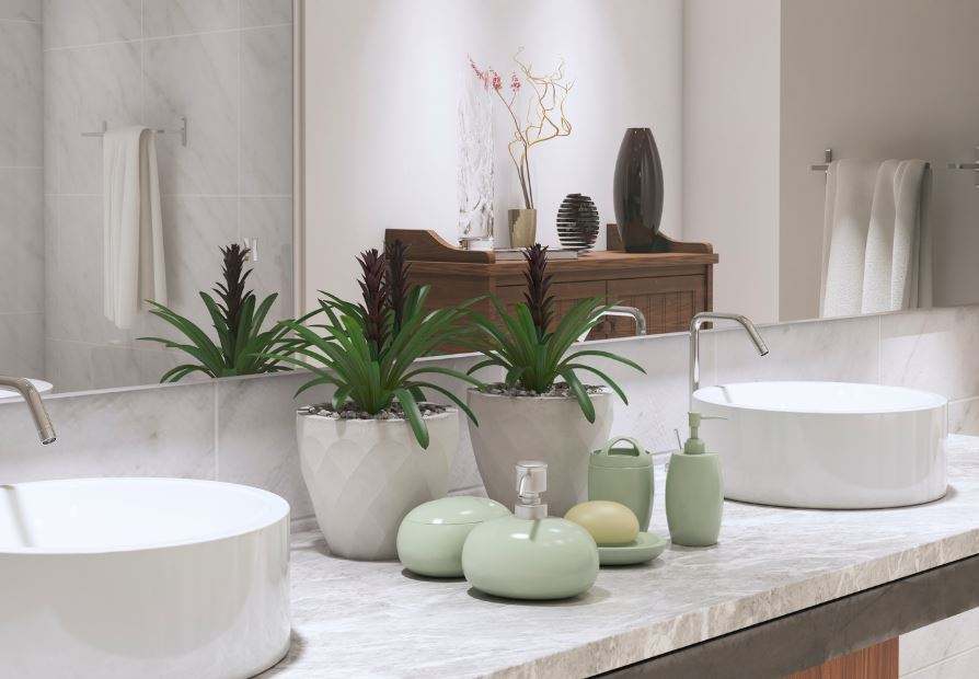 poner plantas en el baño