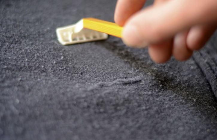 quitar pelusas jersey cuchilla de afeitar