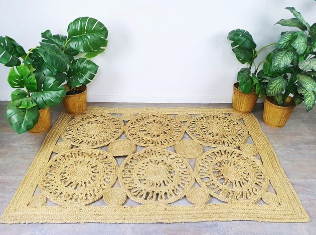 alfombra artesanal de esparto