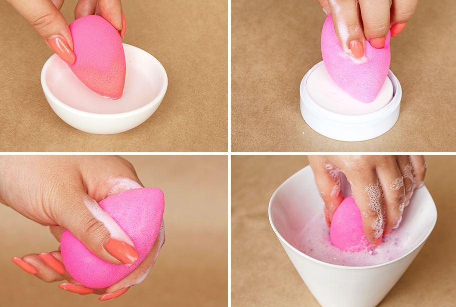 como se limpia las esponjas de maquillaje