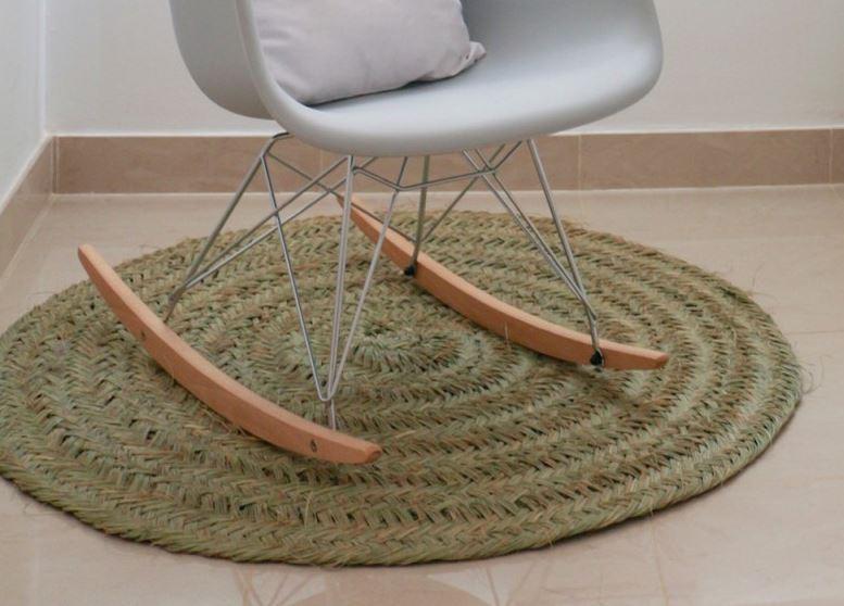decoracion con alfombras de esparto