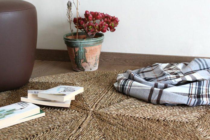 limpiar alfombra de esparto