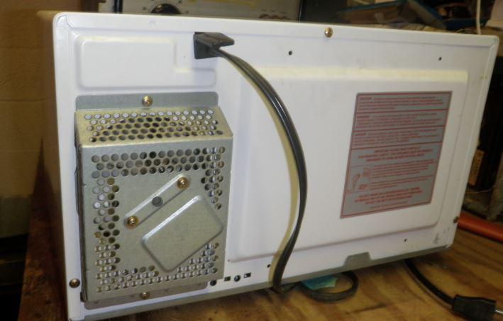 limpieza grill microondas por detras