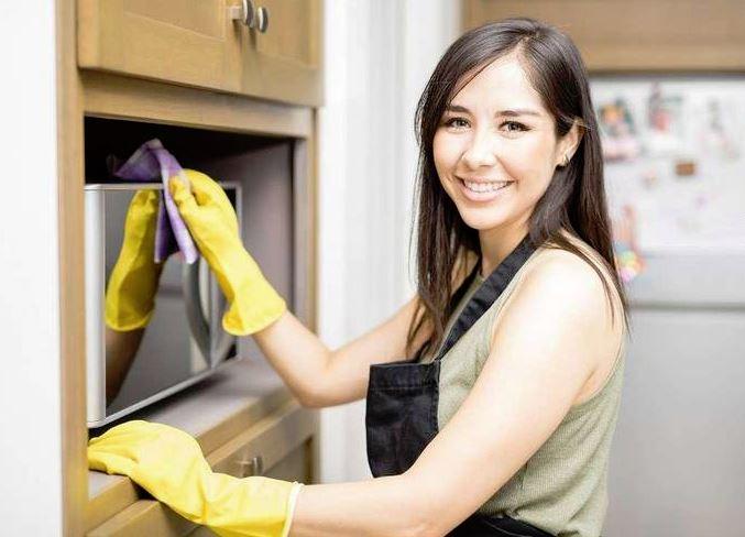 limpieza microondas acero inoxidable