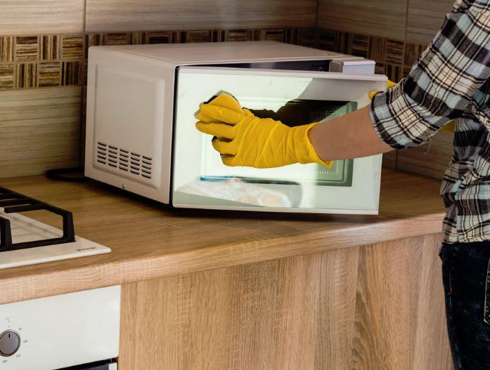 limpieza microondas bicarbonato