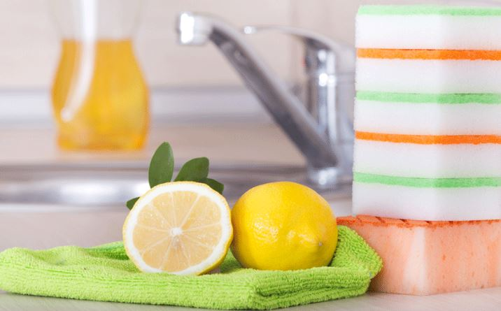 limpieza microondas limon y agua